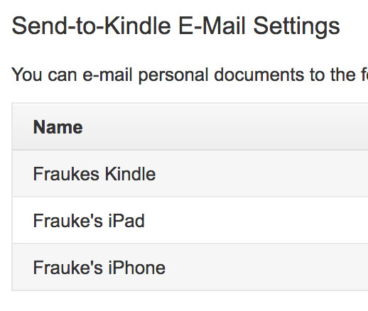 Send-to-Kindle E-Mail Settings